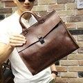 The New Fashion Crazy horse leather one shoulder handbag Men Briefcase Casual business  Briefcase men's messenger Travelling ba