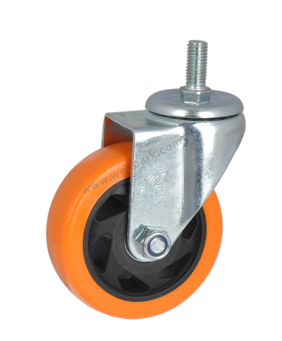 2.5 inch,Swivel Heavy Duty Castors,Rubber Swivel Castor Wheel,Flat Caster Wheels,with Brake Lock,Universal 360 Degree Rotating,Trolley Caster,for Large Furniture and Equipment,4 Pcs