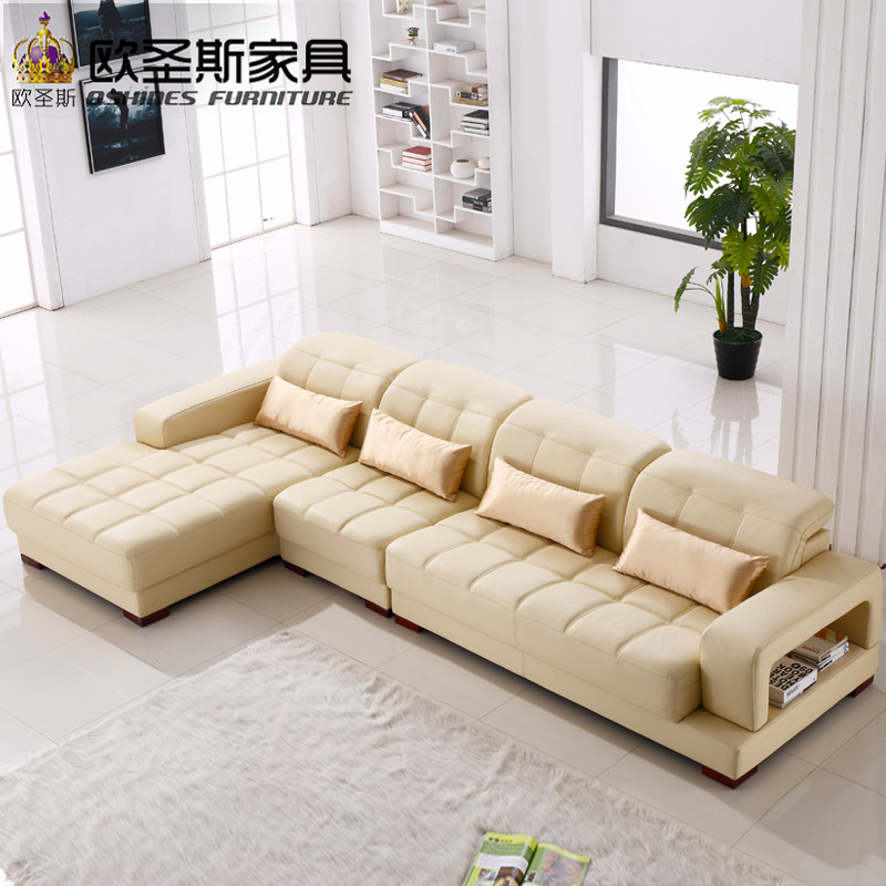 Luxury softline leather sofa italian nubuck leather sofa sofa furniture leather modern simple design sectional leather sofa 1305Q in Living Room Sofas from Simple Elegant - nubuck leather sofa Photos