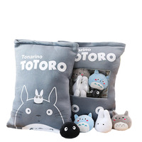 a bag of totoro plush toys 8 pcs plush my neighbour totoro soft doll stuffed cartoon anime animal kids toys totoro pillow