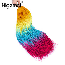 Aigemei Synthetic Senegalese Twist Crochet Braids 24 inch Ombre Braiding Hair Extensions 100G/PC For Women