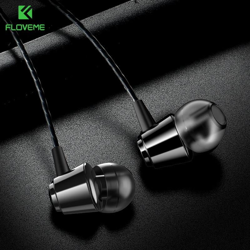 FLOVEME Mini Wired Stereo Earphone 3.5mm In-Ear Earphones with Microphone Headset for Samsung Xiaomi Fone De Ouvido Audifonos