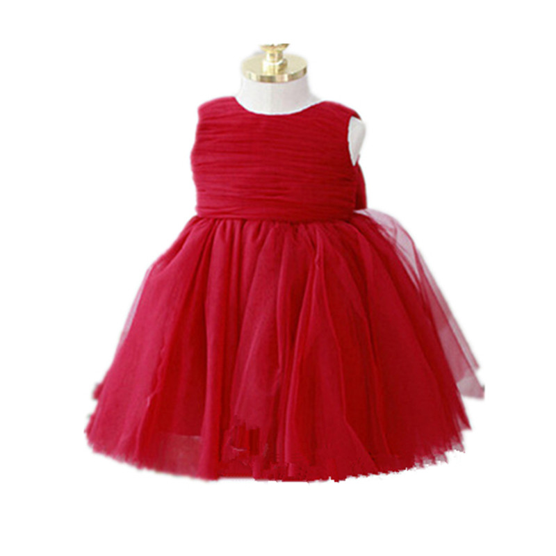 BBWOWLIN Baby Girls Formal Dresses Vestido Christening Wedding Birthday Party White Pink Red for 0-2T Little Girls Dresses 8061 bbwowlin baby girl shoes first walkers cotton crystal baby girls christening dresses for party wedding 90226