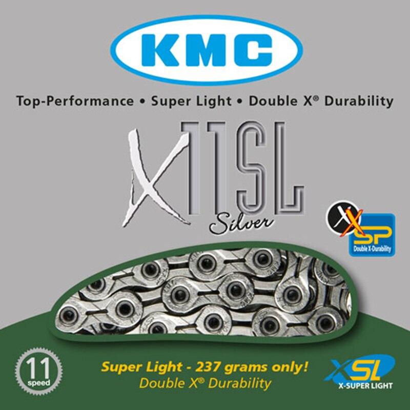 オリジナルkmc x11sl 11スピードシルバー用トレッキング116リンクスーパーライトニッケルメッキ11 sチェーン+ missingリンクコネクタスーツ  グループ上の スポーツ & エンターテイメント からの 自転車のチェーン の中 3