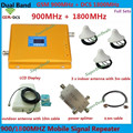 Doble Banda GSM 4G Repetidor amplificador de Señal Con 3 de Techo antenas GSM DCS 1800 900 Amplificador Amplificador de Señal de Teléfono Móvil repetidor