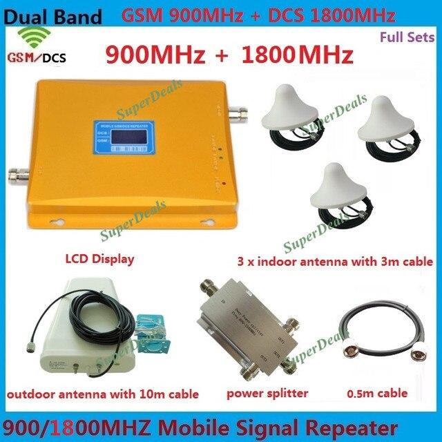Dual Band GSM 4 Г Усилитель Сигнала Повторитель С 3 Потолок антенны GSM И DCS 1800 900 Усилитель Сигнала Мобильного Телефона Booster ретранслятор