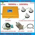 Dual Band GSM 4G Repetidor de Sinal de Reforço Com 3 Teto antenas GSM 1800 DCS 900 Amplificador de Sinal de Telefone Móvel Impulsionador repetidor