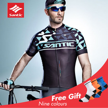 Santic 2019 Pro Cycling Jersey Set Men Short MTB Padded Maillot Ciclismo Ropa Hombre Triathlon Suitbicycle Clothing New