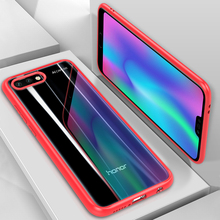 Case for huawei honor 10 cover Soft silicone edge + transparent PC back cover Protector case for huawei honor 10 mobile phone