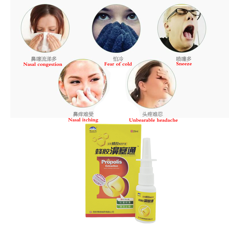 Chinese Traditional Medical Herb Spray Nasal Spray Rhinitis Treatment Nose Care Health Care For Nose Blocked Uncomfortable