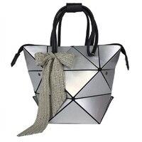 Women Folded Handbags bolso PU Leather Famous Designer Geometric Shoulder bao Bag Issey Miyak Diamond Tote Originality Bags