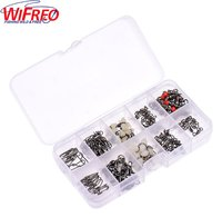 10Kinds 100pcs Mix Loading Fishing Accessories Hooks Swivels Weight Fishing Sinker Stoppers Connectors Fishing Tackle Box