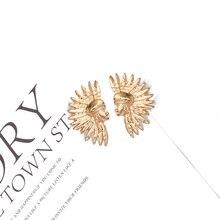 2019 New Arrive Face Shaped Earrings Jewelry ZA Statement Metal Drop Fashion Trend Pendientes Bijoux For Women Girls