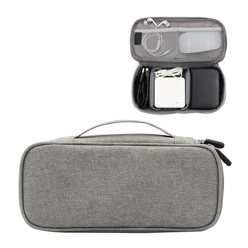 BUCHNIK Fashion Oxford Fabric Digital Packet Travel Data Line Charge Treasure Mobile Power Organizer Bag Accessories Supplies