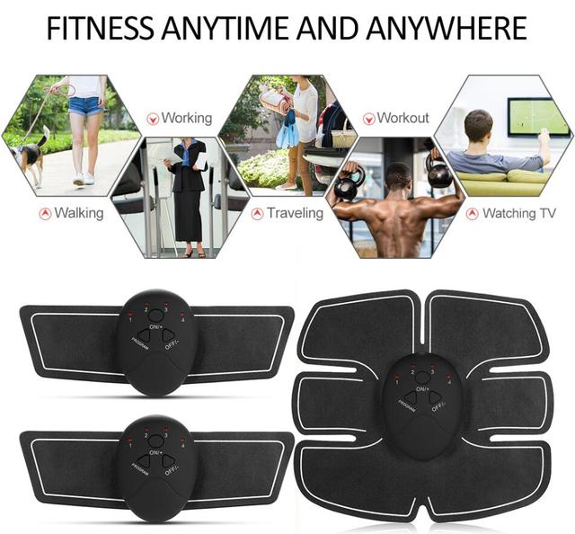 Abdominal Muscle Trainer EMS ABS Toner Trainer Toning Gym Workout Muscle Exercise Fitness Equipment for Abdomen Arm Leg Back