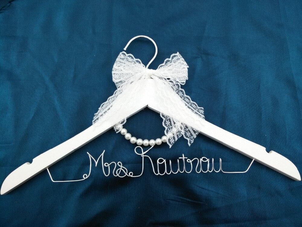 Кружево вешалка персональная Свадебная Вешалка, подарки невесте, вешалка с именем, вешалка для платья невесты подарок для невесты