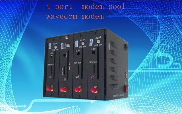 mini modem pool 4 port  Q2403 with GPRS