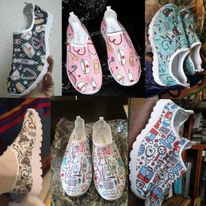Image 5 - أحذية رياضية نسائية جديدة مطبوع عليها رسوم متحركة من instanots أحذية شبكية خفيفة أحذية صيفية بدون كعب قابلة للتنفس أحذية رياضية Zapatos planos