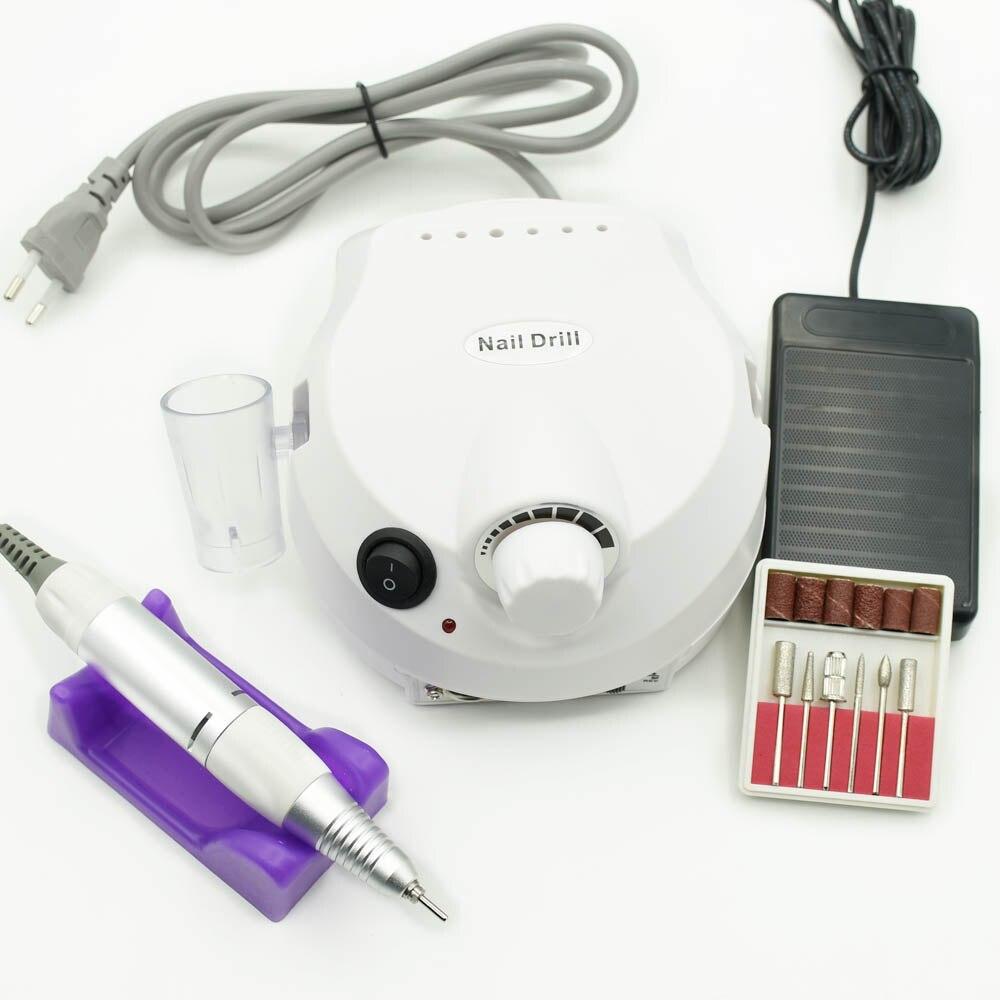 30000 RPM eléctrica uñas taladro máquina de manicura eléctrica taladros accesorio kit de uñas pedicura taladro archivo clavo herramientas