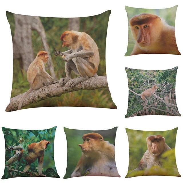 Poszewki na poduszkę małpa nosacz sundajski janusz polak