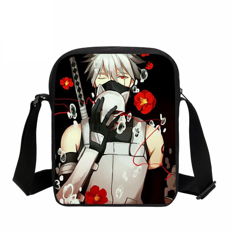 0273d3f87d VEEVANV 2018 Men s Briefcase Boys School Satchel Anime Uzumaki Naruto  Printing Handbags Small Purse Girls Mini Crossbody Bag