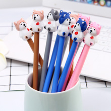 36pcs/lot Cartoon Creative Cute Single Dog 0.5mm Gel Pen Animal Black Ink Student Stationery Signature Children Gift