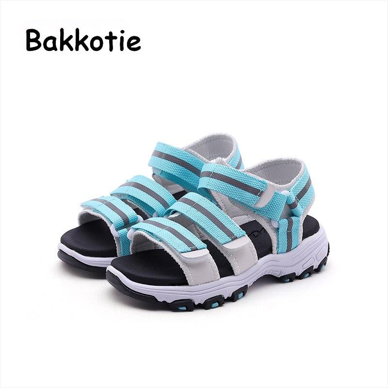 Bakkotie 2018 New Summer Toddler Boy Beach Sandal Children Fashion Casual Flat Baby Girl Sport Brand Soft Blue Shoe Mesh Kid