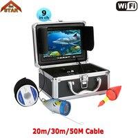 Stardot Wi Fi Подводные Ice видео Рыбалка Камера 9 дюймов ЖК дисплей Мониторы IP68 Ночное видение Камера 20/30/50 м кабель визуальный Рыболокаторы