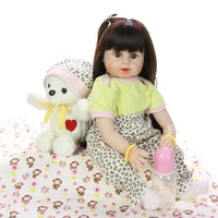 Bebes Reborn 24 Inch Reborn Baby Doll 60 cm Silicone Soft Realistic Princess Girl reborn toddler Doll Toys For Children's Day Gi