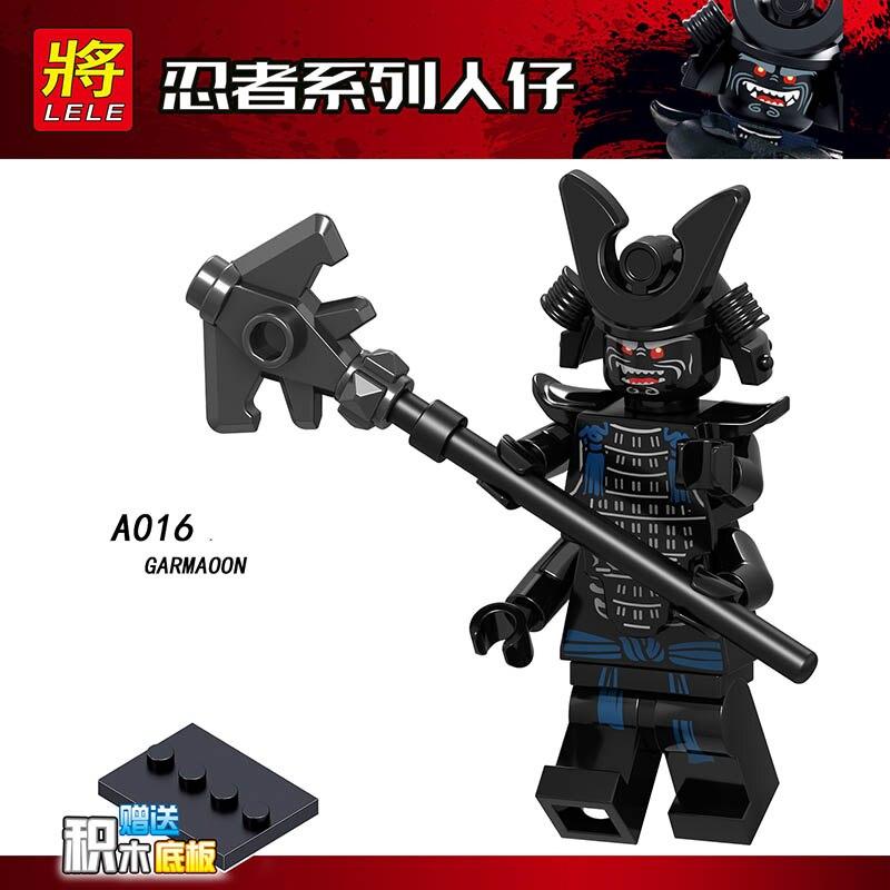 Single Sale Legoinglys Ninjagoed Figure HUTCHINS CHOPPER MAROON MR.E MISAKO GARMAOON Bricks Building Blocks  Dolls Toys Gifts