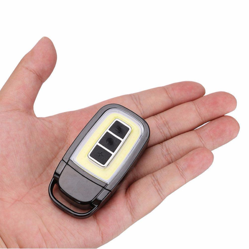 COB LED Flashlight USB Rechargeable Portable Car Key Lantern Waterproof Torch Lamp 3 Modes With Built-in Battery For Camping