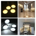 4Piece LED Home Kitchen Cabinet Shelf Night Light Energy-saving Lamp Bulbs