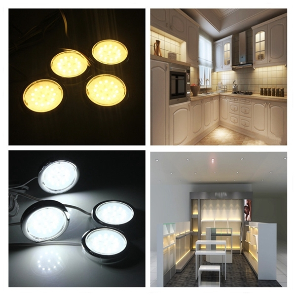 4Piece LED Home Kitchen Cabinet Shelf Night Light Energy-saving Lamp Bulbs
