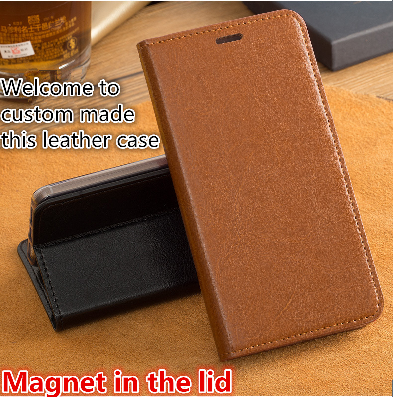 HY09 Genuine leather wallet phone bag with card slots for Xiaomi Redmi Note 4 phone case for Xiaomi Redmi Note 4 flip case