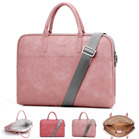 Women Soft Pu Leather Messenger Laptop Shoulder Bag Handbags for Dell HP Macbook 13 14 15 17 inches Carrying case