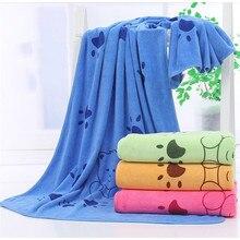 New Soft Cartoon Pet Dog Cat Superfine Fiber Towel Fast Dry Super Absorbent Hair Towels Super Large Cute Supplies Blue Function