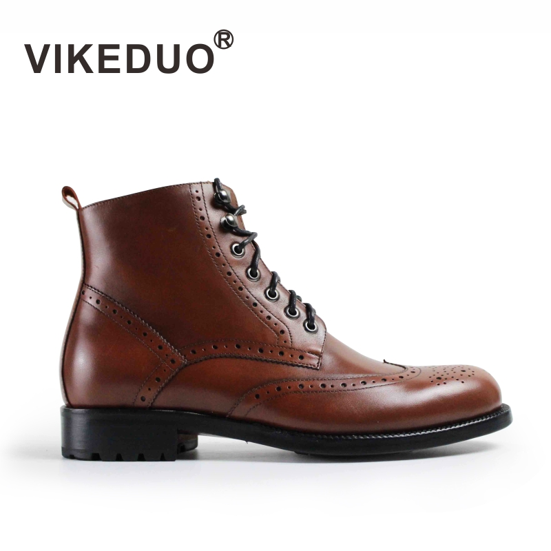 2018 Botas Hombre Handmade Luxury Fashion Office Dress Painted Genuine Cow Leather Original Design Men Casual