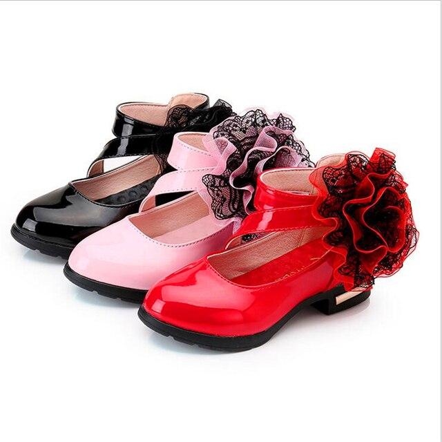brand new 0e0ce 4fe51 US $23.99 |Herbst Mädchen Sandalen Peep Toe Aerobic Schuhe Baby Tanzen  Schuhe Big Rose Prinzessin Partei Schuhe Ferse Für Kinder Freies  verschiffen in ...