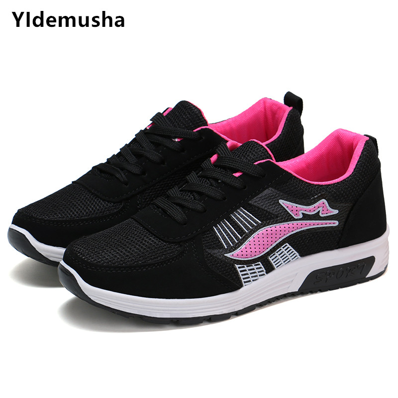 8b89bb4aa5f5 US $10.81 50% OFF|YIdemusha Women Net Sports Shoes 2019 New Spring  Breathable Girls Lightweight Casual Women's Shoes White Travel Mesh  Sneakers-in ...