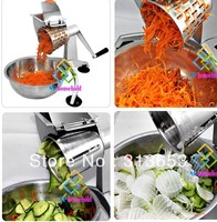 Multi function rotary vegetable grater/turning slicer/potato cutter /fruit grater/salad machine( five different cup cutter)