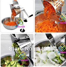 Multi-function rotary vegetable grater/turning slicer/potato cutter /fruit grater/salad machine( five different cup cutter)