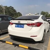 For Hyundai Elantra Spoiler ABS Material Car Rear Wing Elantra Primer Color Rear Spoiler 2012 2015 Rstyle