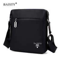 BAISTY Brand New Fashion Messenger Bags 2017 Men luxury design Crossbody bags High quality Solid color Shoulder bags PU Leather