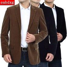 M-4XL осень-весна Для мужчин Блейзер Для мужчин Smart Повседневная куртка Для мужчин Модная хлопковая куртка Для мужчин s кожаная куртка пальто Вельветовая куртка
