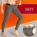 Inverno dos homens Quentes do algodão Leggings Apertadas Homens Long Johns Roupa Homem roupa interior térmica calças Quentes
