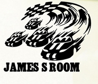 PersonalIsed Race Car And Flag Vinyl Wall Decal Name Custom Racing Car Flag Wall Sticker Boys