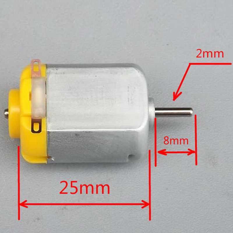 1 قطعة 130 موتور تيار مباشر مايكرو موتور DIY بها بنفسك أربع عجلات موتور محرك صغير الروبوتية التجارب العلمية P0.05