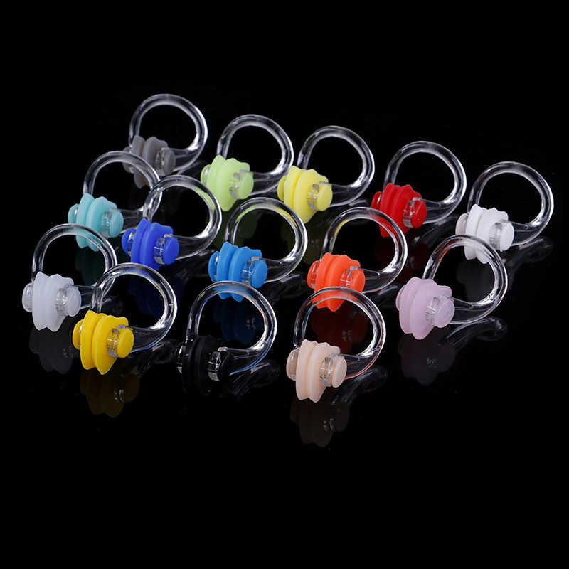 Soft Waterproof Swimming Earplugs Nose Clip Case Protective Prevent Water Protection Ear Plug Soft Swim Dive Supplie 2Pcs