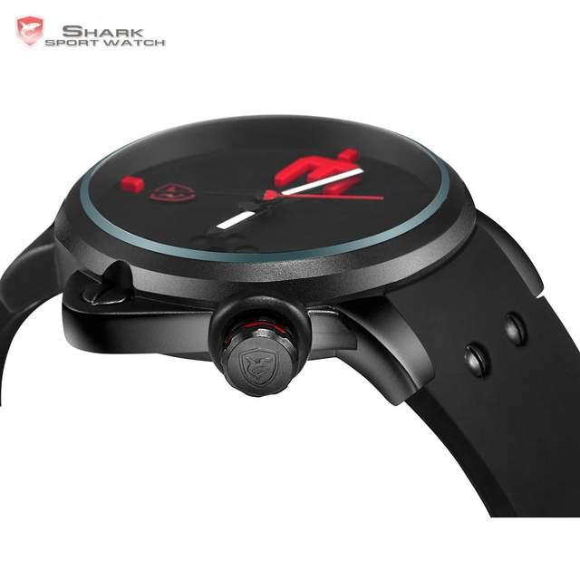 919cc0980b3 placeholder Salmón TIBURÓN Reloj Deportivo Marca de Lujo 3D Red Dial Banda  de Silicona Analógico Militar Del