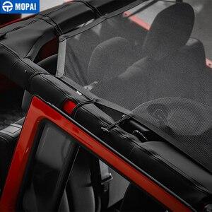 Image 5 - MOPAI 4 باب سيارة سقف شبكة بيكيني أعلى ظلة غطاء UV الشمس شبكة تظليل ل جيب رانجلر JK 2007 2017 اكسسوارات السيارات التصميم